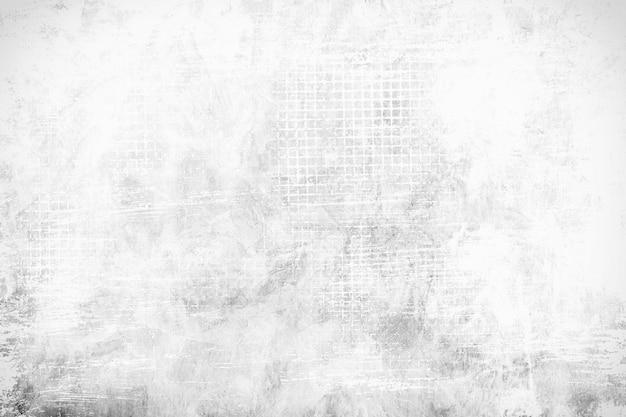 グランジと古い白いコンクリートの壁から抽象的な背景と傷。レトロとヴィンテージの背景。