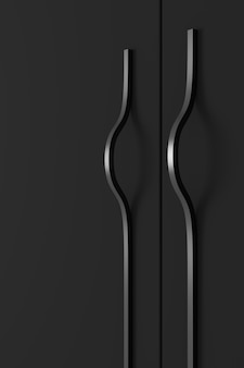 Abstract background of furniture handle. 3d rendering.