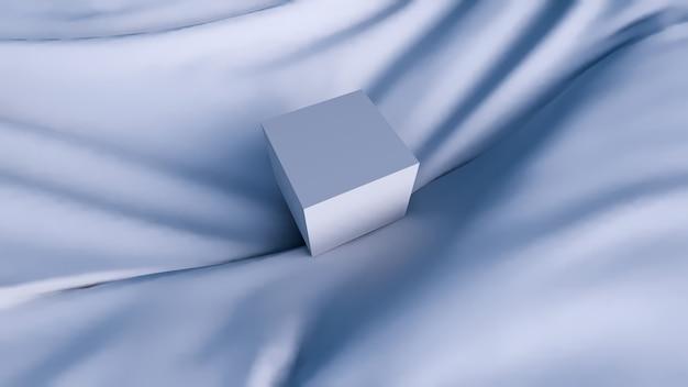추상적 인 배경, 제품 표시를위한 최소한의 기하학적 인 파란색 모양 모양
