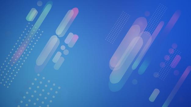 추상적 인 배경, 기하학적, 디자인, 원과 그라데이션 컬러 라인 3d 일러스트와 함께 추상 패턴