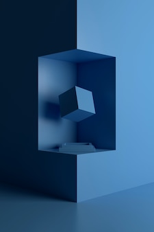 Abstract background of geometric shape. 3d rendering.