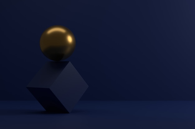 Abstract background of geometric shapes. 3d rendering.