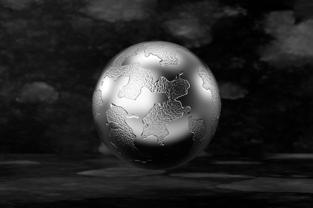Abstract background of the globe shape. 3d rendering.