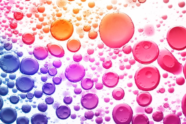 Abstract background gradient oil bubble in water wallpaper