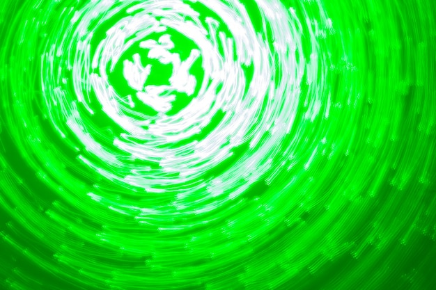 Abstract background of green light
