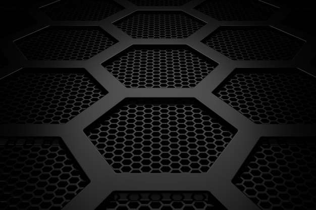 Abstract background of hexagon. 3d rendering.