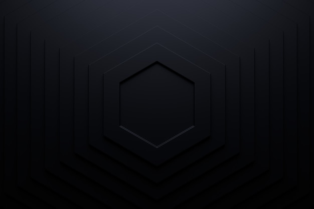 Abstract background of hexagon