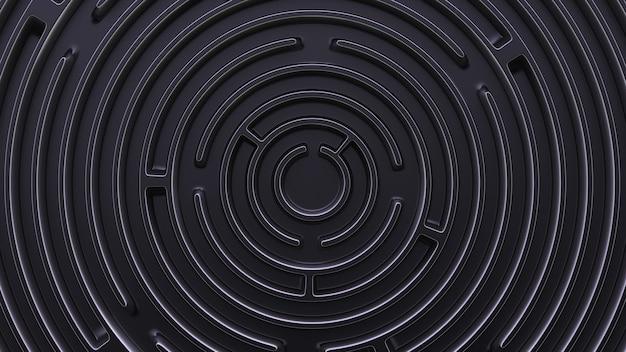 Абстрактный фон в футуристическом стиле. круговой лабиринт. вид сверху.