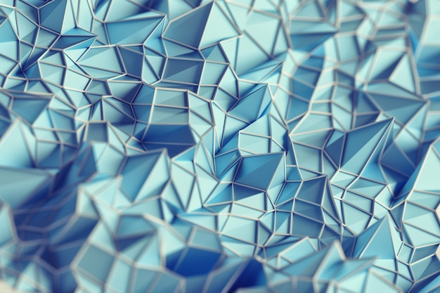 Abstract background of light blue three dimesional tringles