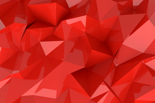 Abstract background of lowpoly 3d rendering