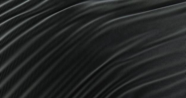 추상적 인 배경 럭셔리 검은 천, 웨이브 실크 또는 새틴 패브릭, 검은 천