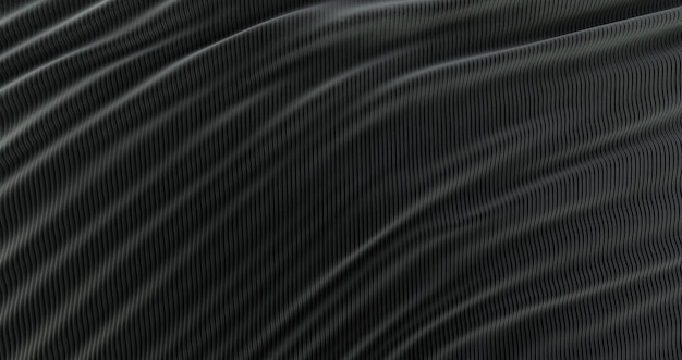 Abstract background luxury black cloth, wave silk or satin fabric, black cloth