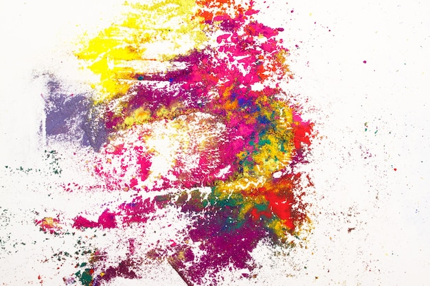 Abstract background made of colorful indian dyes