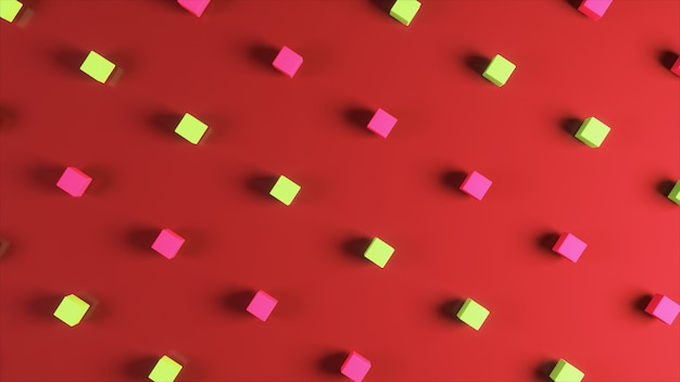 Abstract background made from colorful cubes