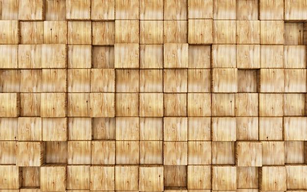 Абстрактный фон из деревянных кубиков. 3d визуализация
