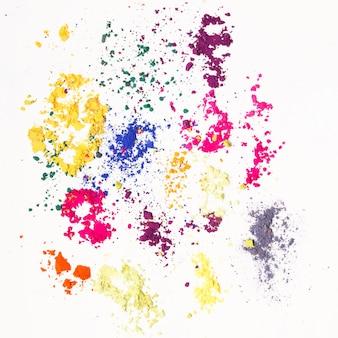 다채로운 인도 염료로 만든 추상적인 배경