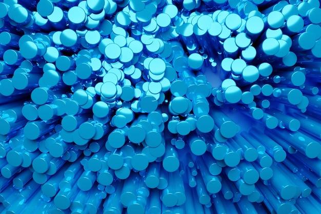抽象的な背景、多くの青いシリンダー