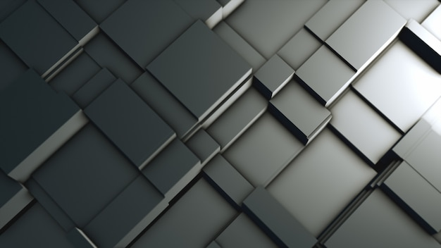 Abstract background of metal blocks