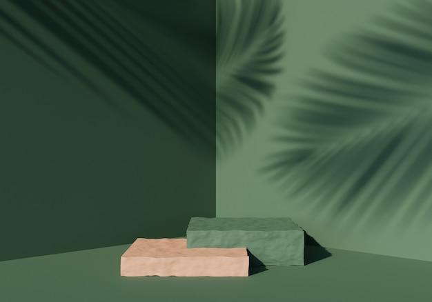 추상적인 배경, 제품 디스플레이를 위한 조롱 장면. 3d 렌더링