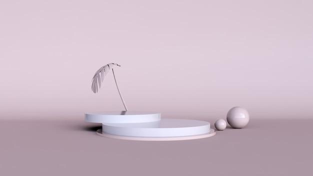 抽象的な背景、製品表示のためのモックアップシーン。 3dレンダリング