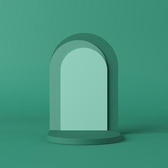 抽象的な背景、製品表示のシーンを模擬。 3dレンダリング