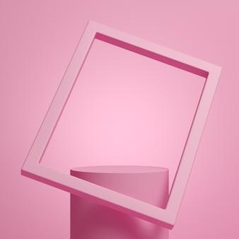抽象的な背景、製品表示のためのモックアップシーン