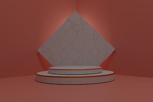 Абстрактный фон, макет сцены с подиумом для отображения продукта. 3d рендеринг.