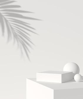 Абстрактный фон, макет сцены с подиумом для отображения продукта. 3d рендеринг