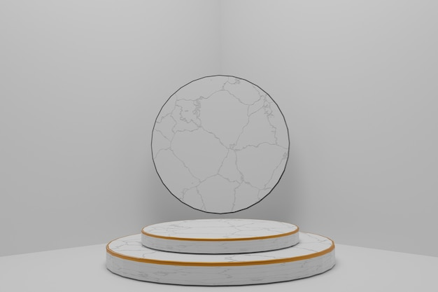 Abstract background, mock-up scene with podium for product display. 3d rendering.