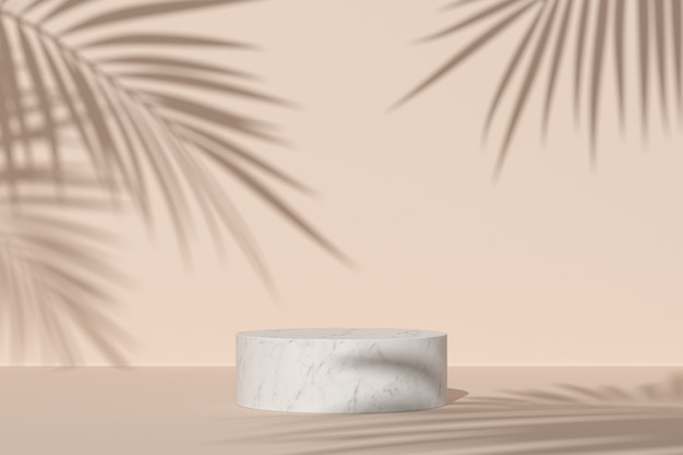 Abstract background, mock up scene with podium for product display. 3d rendering