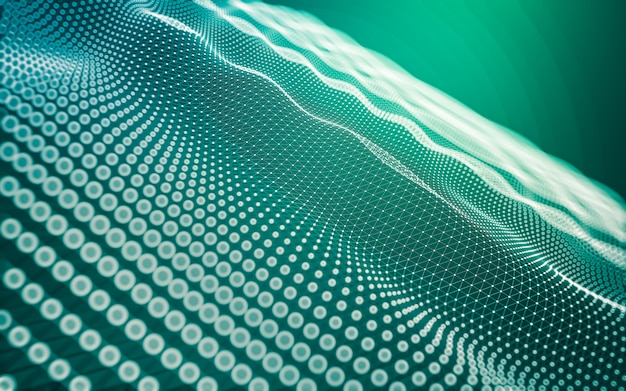 Абстрактный фон технология молекул с многоугольными формами, соединяющими точки и линии. структура соединения. визуализация больших данных.