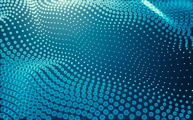 抽象的な背景。点と線をつなぐ多角形の分子技術。接続構造。