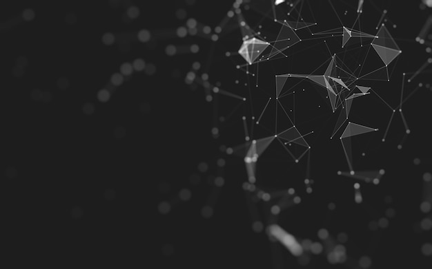 Abstract background. molecules technology with polygonal shapes, connecting dots and lines