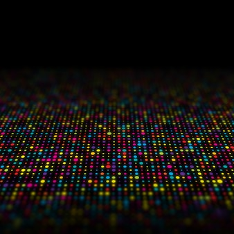 Abstract background of multi coloured techno dots