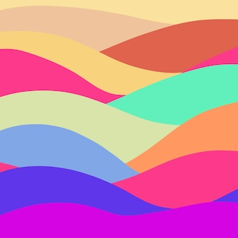 추상적인 배경 여러 가지 빛깔의 파도 추상적인 배경