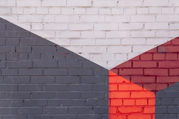 Abstract background of multicolored brick wall. exterior design,