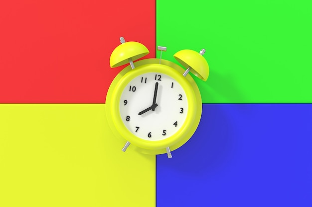 目覚まし時計の抽象的な背景。 3dレンダリング。