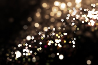 Abstract background of bokeh lights