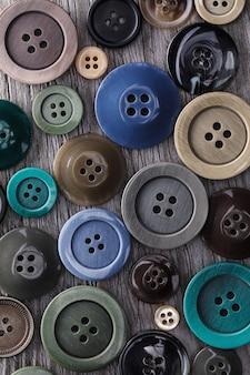 Абстрактный фон из кнопок разных размеров и цветов