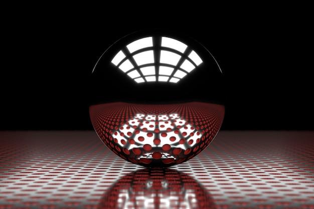 サークルメタルの抽象的な背景。 3dレンダリング。