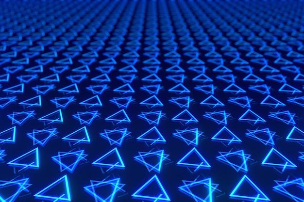 다채로운 대칭 삼각형의 추상 배경