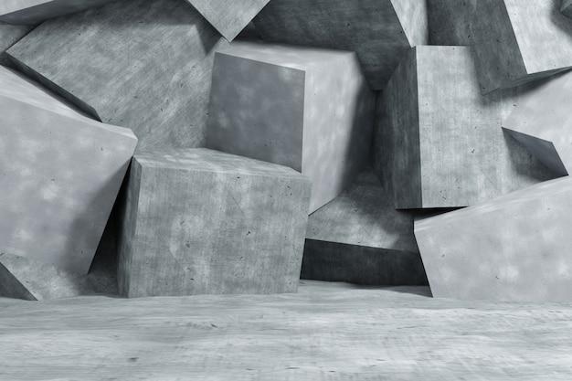 Абстрактная предпосылка бетонной стены. 3d-рендеринг.