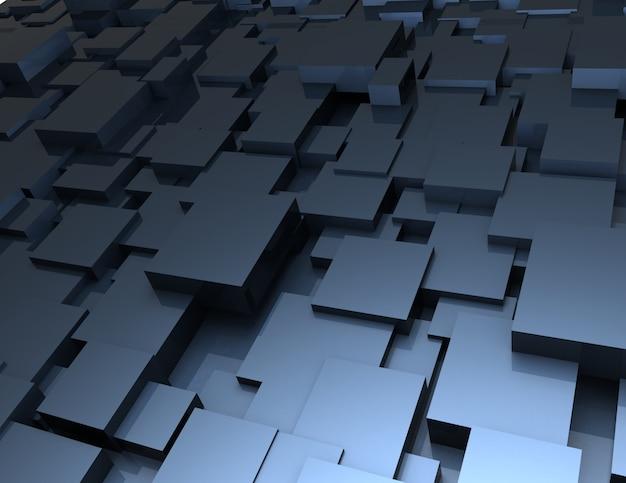 Абстрактный фон из кубиков. 3d визуализированная иллюстрация