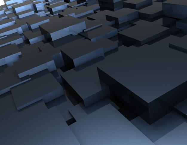 Абстрактный фон из кубиков. 3d визуализация