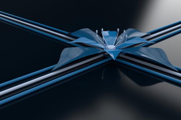 花の抽象的な背景。 3d壁紙デザイン。 3dレンダリング。