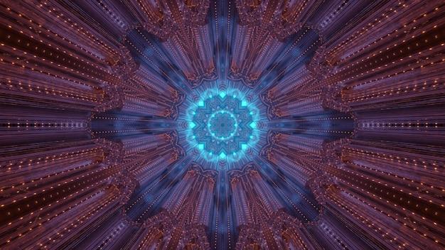 幾何学模様の3dイラストの抽象的な背景