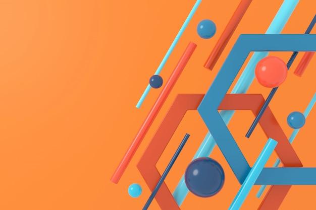 幾何学的形状の抽象的な背景。