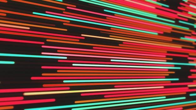 輝くネオン線の抽象的な背景