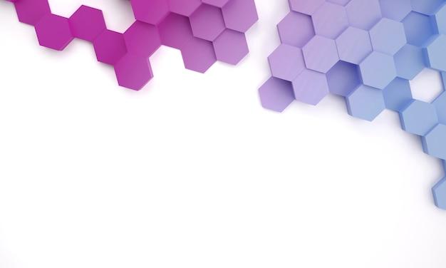 그라데이션 색상의 추상적 인 배경입니다. 복사 공간. 3d 렌더링