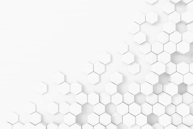 Абстрактный фон с шестигранной. 3d-рендеринг.